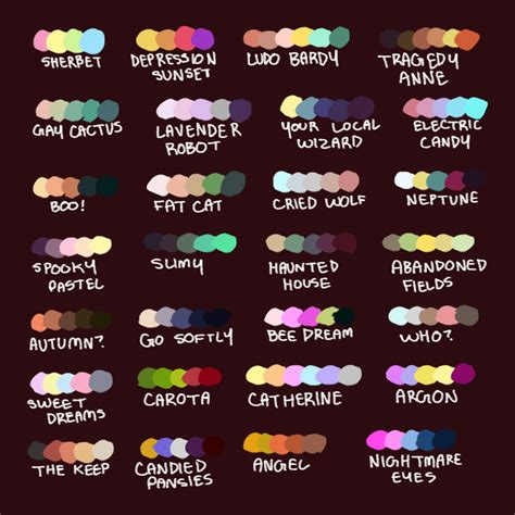 color tag wizardfiend some color palettes tag yourself im