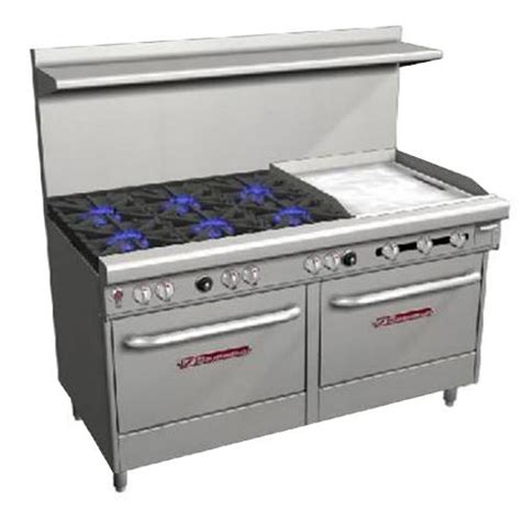 Oven Gas 60 X 40 southbend s60dd 2g 60 quot commercial restaurant range 6