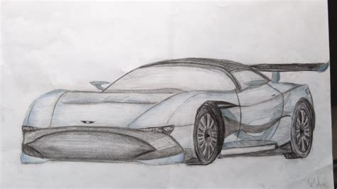 aston martin vulcan front sketch 5 aston martin vulcan from front side by avaphil
