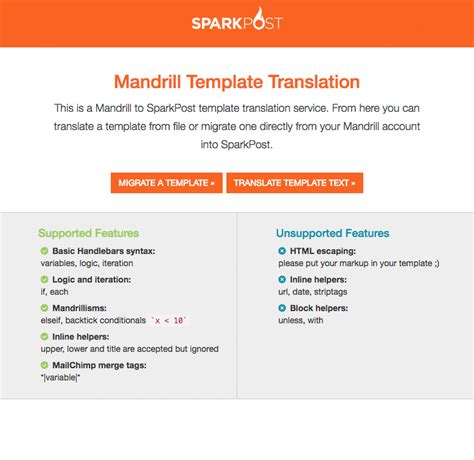 mandrill templates here s your mandrill template migration tool sparkpost