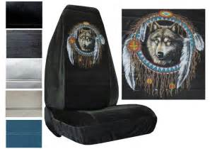 Wolf Car Covers Velour Seat Covers Car Truck Suv Wolf Dreamcatcher