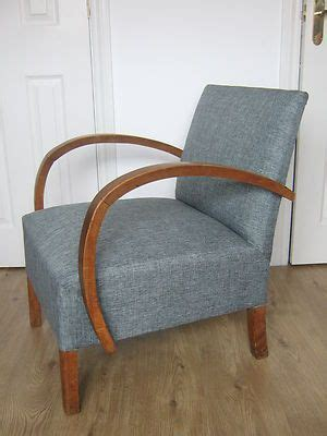 stylish vintage retro armchair curved wooden arms reading chair danish style ebay