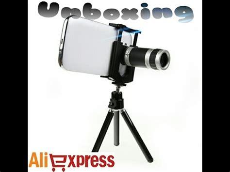 unboxing 24 aliexpress lentes zoom 8x para smartphones