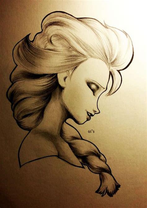 doodle draw elsa elsa pencil sketch cool drawings beautiful