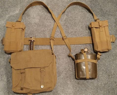 british 1937 pattern web equipment early war pattern 1937 webbing set british made