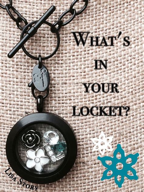 Origami Owl 2014 - origami owl in black what s in your locket lisastory