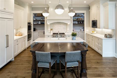 Oly Chandelier Splendid White Grey Kitchen Traditional With Dark Wood