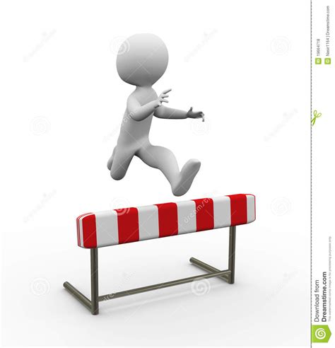 how to your to jump hurdles 3d hurdle jump royalty free stock photos image 19664718
