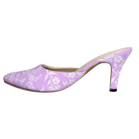 Wedges Kembang Selop sandal selop lukis amaryllis pink slightshop
