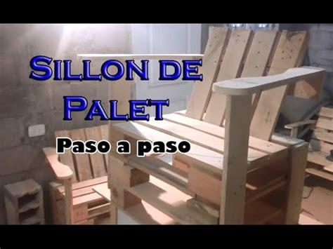 como hacer  sillon de palet paso  paso youtube