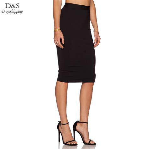 2015 new arrival high waist back zipper tight pencil skirt
