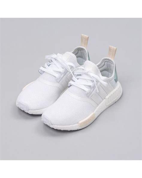 adidas originals womens nmd   white  white lyst
