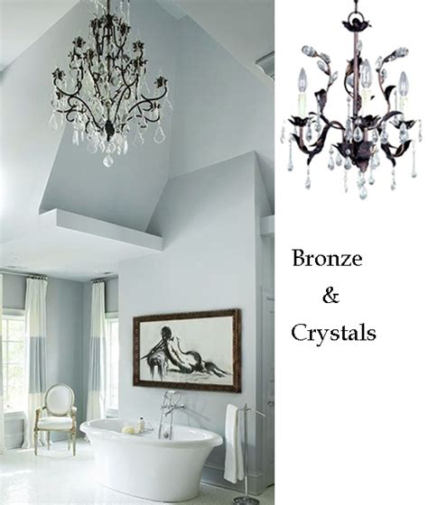10 bathroom lighting ideas with crystal chandeliers ls plus
