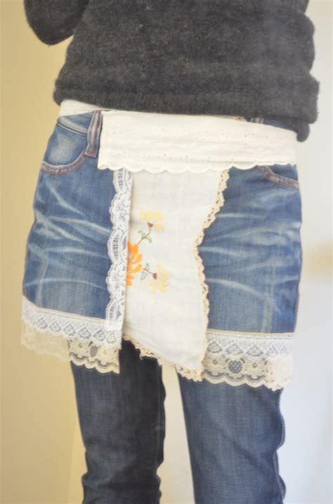 upcycled denim upcycled denim wrap skirt felt