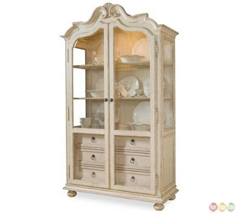 Distressed Curio Cabinet by Provenance Country Distressed Curio Display Cabinet