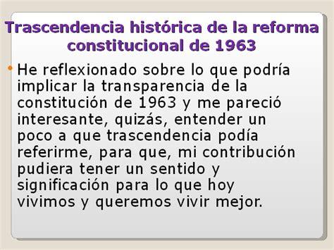 la supremac a de la constituci n y control de constituci 243 n de 1963 trascendencia y aspectos