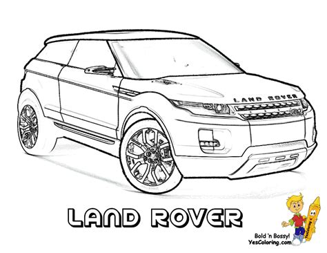 cars land coloring pages land rover lrx concept