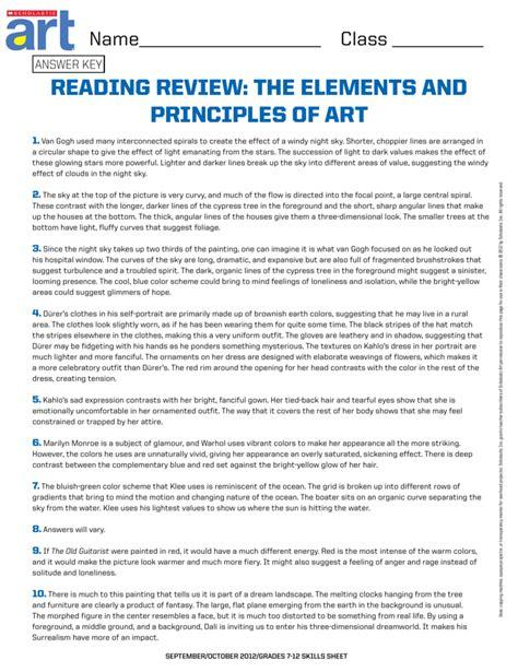 Scholastic Skills Master Worksheet Answers