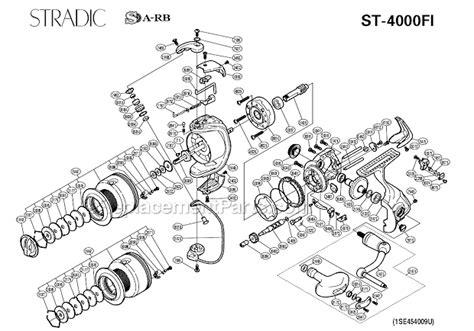 shimano stradic parts diagram shimano st 4000fi parts list and diagram