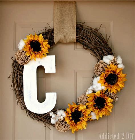 diy wreath ideas fall monogram wreath addicted 2 diy