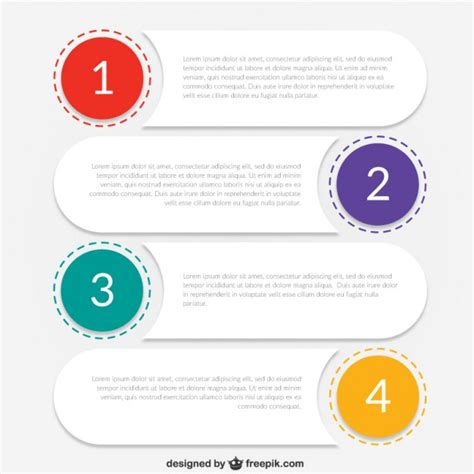 infographic template for business vector free download