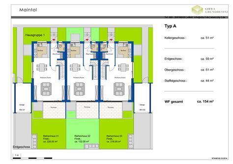 reihenhaus grundriss grundrisse reihenh 228 uer reihenhaus maintal