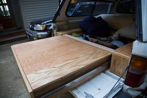 toyota tacoma owner turns  car   handmade rv