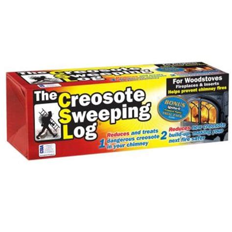 creosote sweeping log sl 824 the home depot
