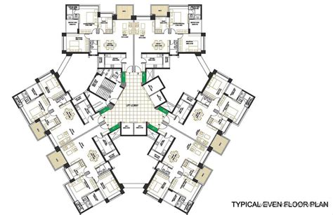 floor plan layout design oberoi springs andheri west mumbai apartment flat project propertywala