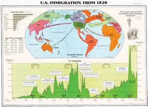 Immigration World Map by U S Immigration From 1820 Triton World