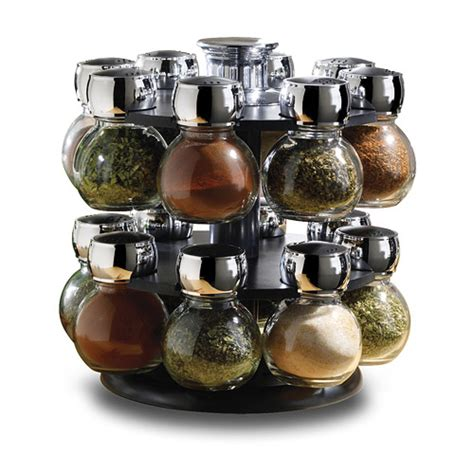 Rotating Spice Organizer Revolving Spice Rack With Premium Spices In Spice Racks