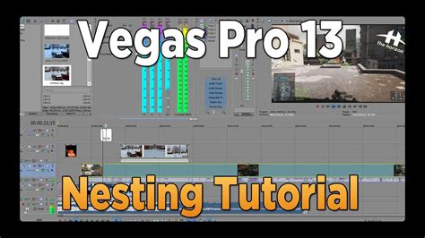 sony vegas pro basic tutorial sony vegas pro 13 tutorial nesting projects youtube