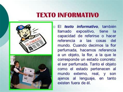 ejemplo de texto informativo cuadros sin 243 pticos sobre textos informativos