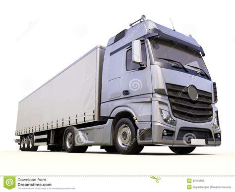 semi trailer truck semi trailer truck stock image image of grey delivery