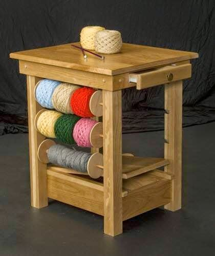 knitting table lovely idea from knitting crochet tables