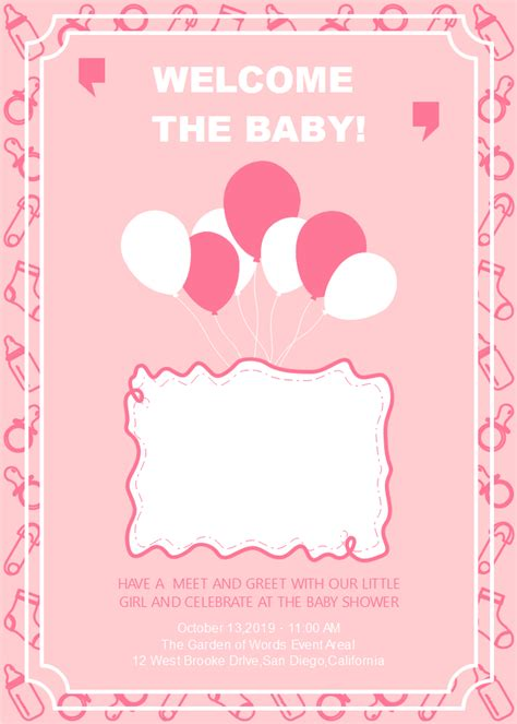 customizable baby shower invitation  customizable