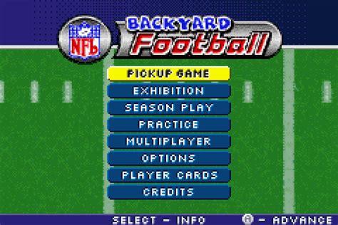 nfl backyard football backyard football download game gamefabrique