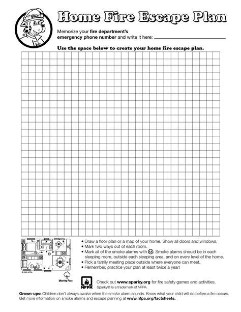 Home Fire Escape Plan Template Education Pinterest Evacuation Plan Fire Escape And Escape Free Printable Escape Plan Template