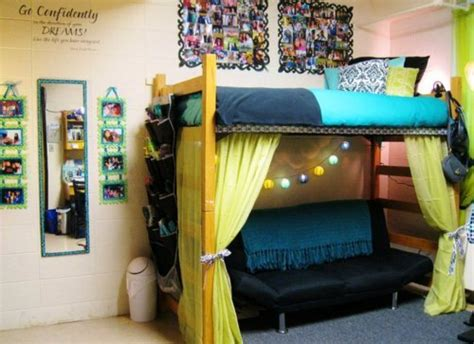 lofted bed dorm dorm decorating ideas organize a dorm room in my own style