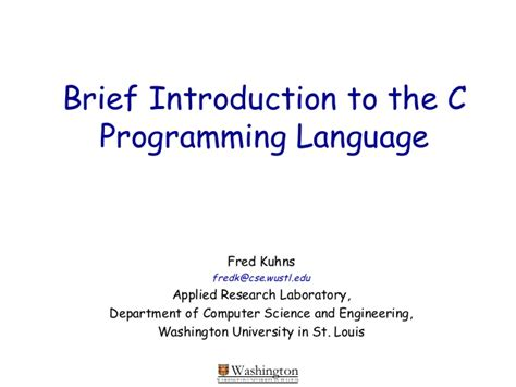 introduction brief brief introduction to the c programming language