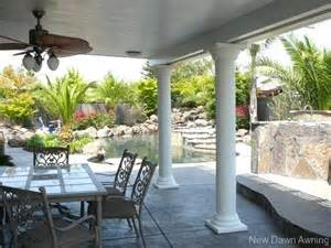 Awning Covers Patios Column Patio Covers
