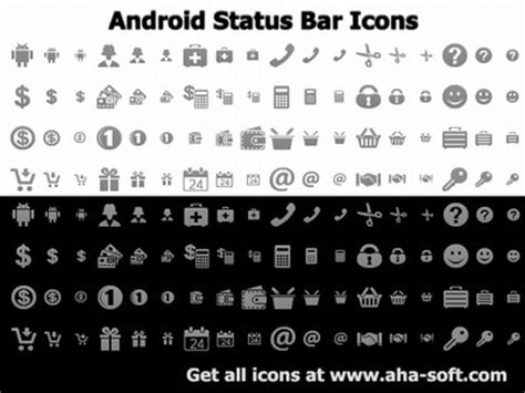 Android Top Bar by Android Status Bar Icons Free And Software