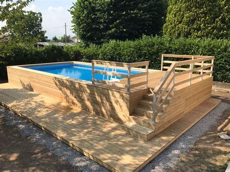 piscine fuori terra rivestite in legno foto piscina fuori terra rivestita in legno di larice