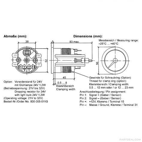 vdo temperature wiring diagram wiring diagram and