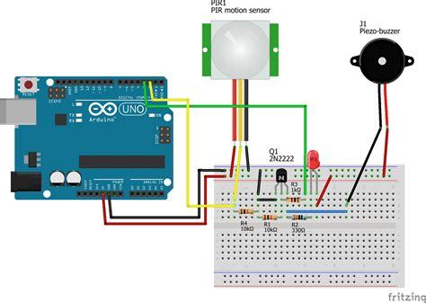 wiring pir sensor alarm wiring diagram