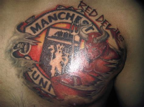 red demon tattoo manchester united devils