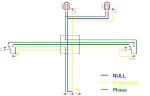 schaltplan wechselschalter mit 2 len s schaltbild f 252 r 2 schalter 1 steckdose
