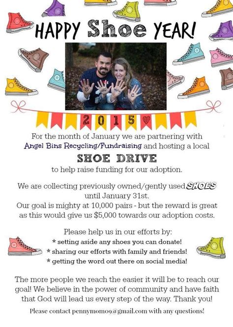 shoe fundraiser 13 best adoption shoe drives images on