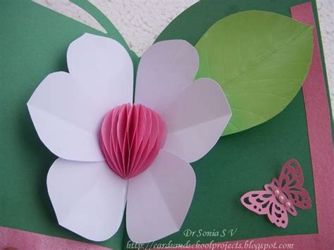 birthday pop up cards templates flower pop up card honeycomb flower with tutorial cards pop up