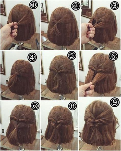 short hair step by step style upięcia na kr 243 tkich włosach